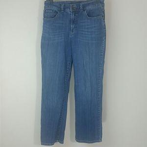 Jeans blue Capri straight leg high waisted